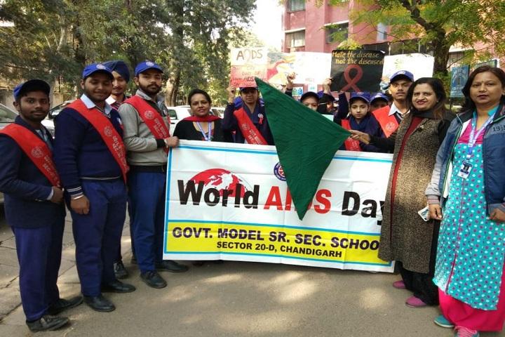 Government Model Senior Secondary School-World Aids Day