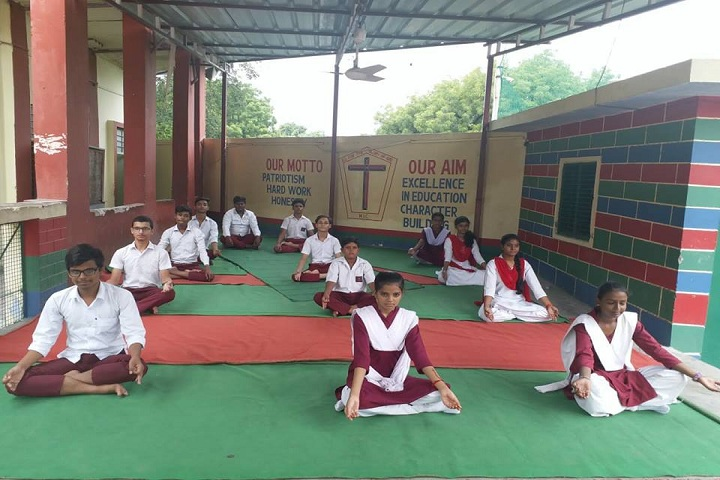 The Model Higher Secondary School-Yoga day