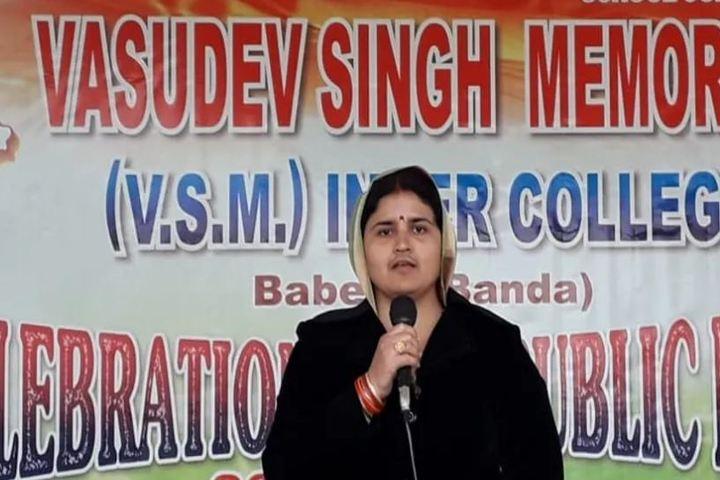 Vasudev Singh Memorial Inter College-Speech