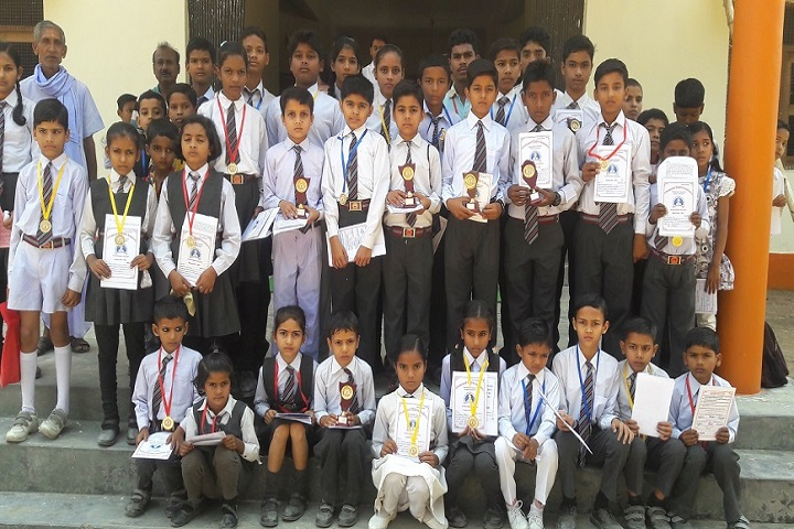 Vivekananda Children Academy-Student with trophies