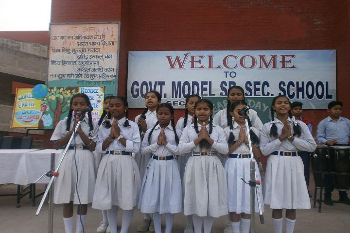 Government Model Senior Secondary School-Earth Day