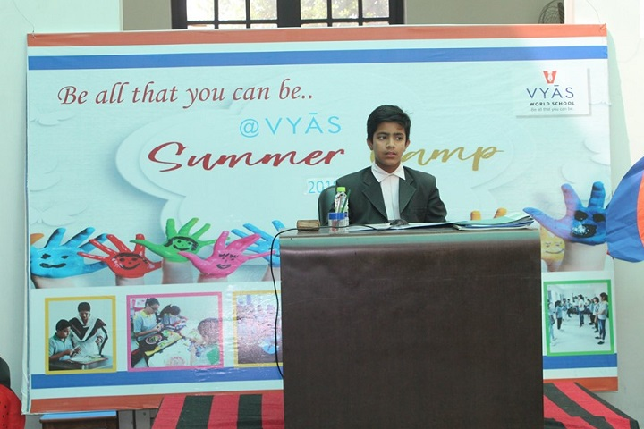 Vyas World School-Student Speech