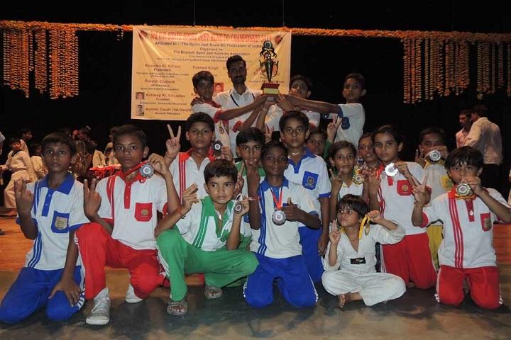 Y M Convent School-Trophie to the School