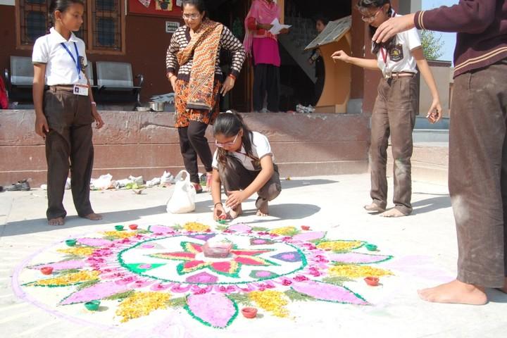 A N D Public School-Rangoli Competition
