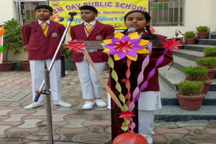 Bmdav Public School-Student Speech