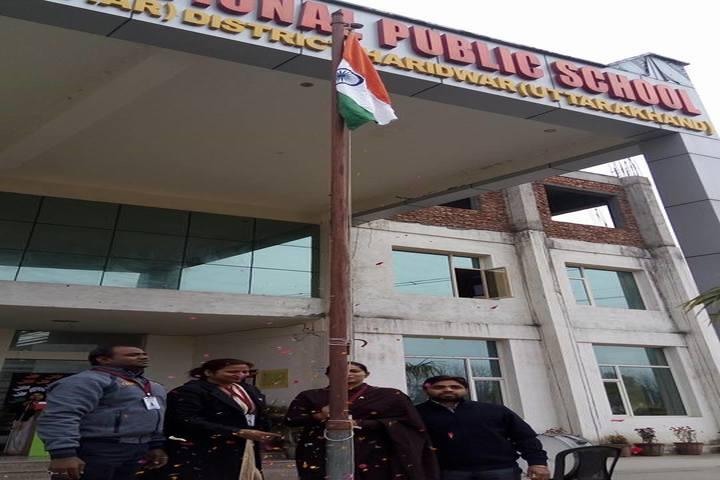 Braj International Public School-Flag Hoisting