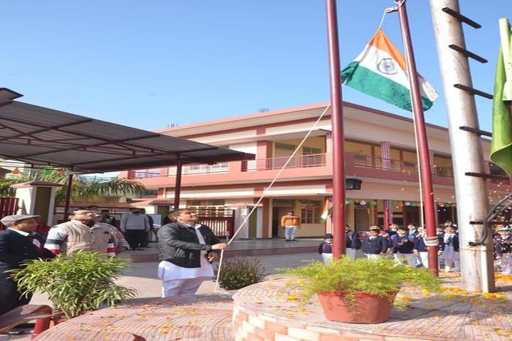 Charat Niketan Vishwa Bharti Public School-Flag Hosting