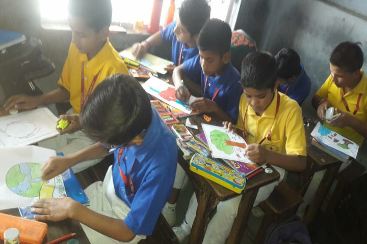 Dawa Rinjue School-Drawing Class