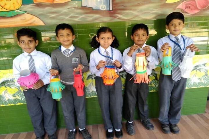 Deepti Public School-Lamp Making