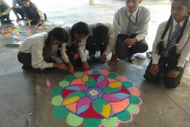 Deepti Public School-Rangoli Competition