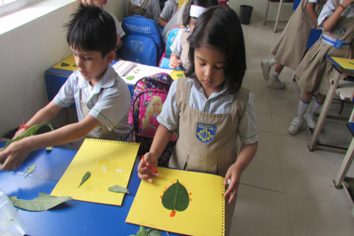Dikshant International School-Leaf Art Competition