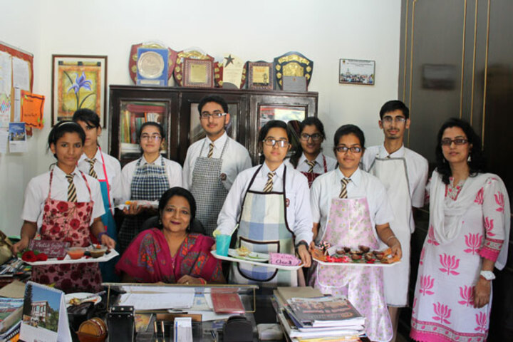 Doon International School-Salad Making Competition