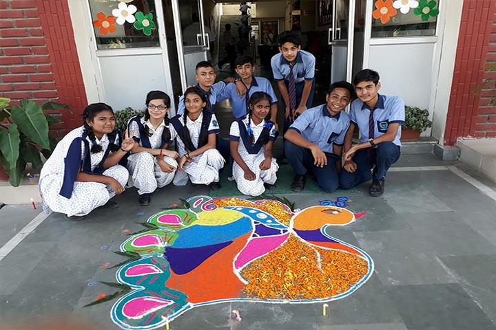 Doon Valley International School-Rangoli Competition