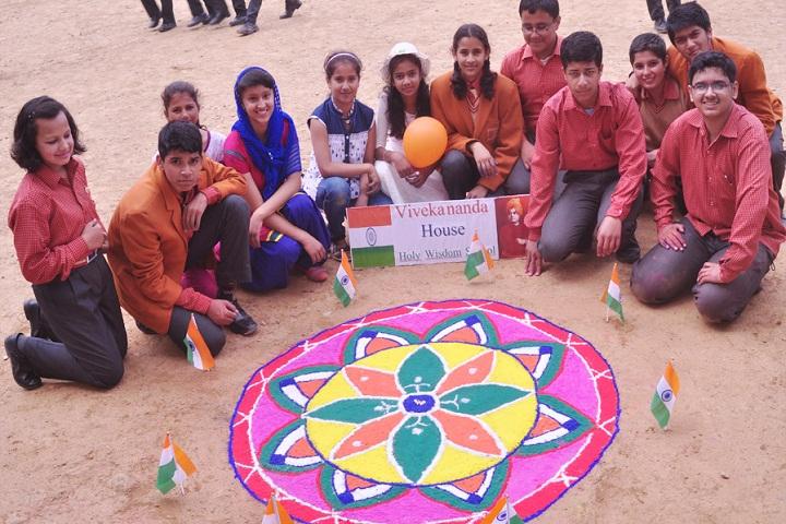 Holy Wisdom School-Rangoli Competition