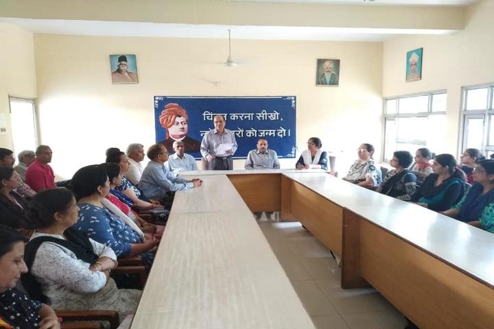 Sharda Sarvhitkari Senior Secondary School-Meeting