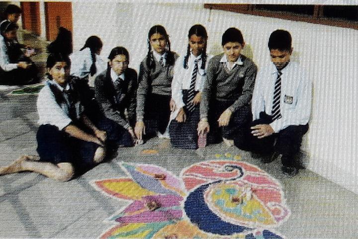 Sri Guru Gobind Singh Collegiate Public School-Rangoli Competitions