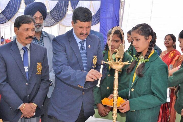 Mother India Public School-Candle Lightening