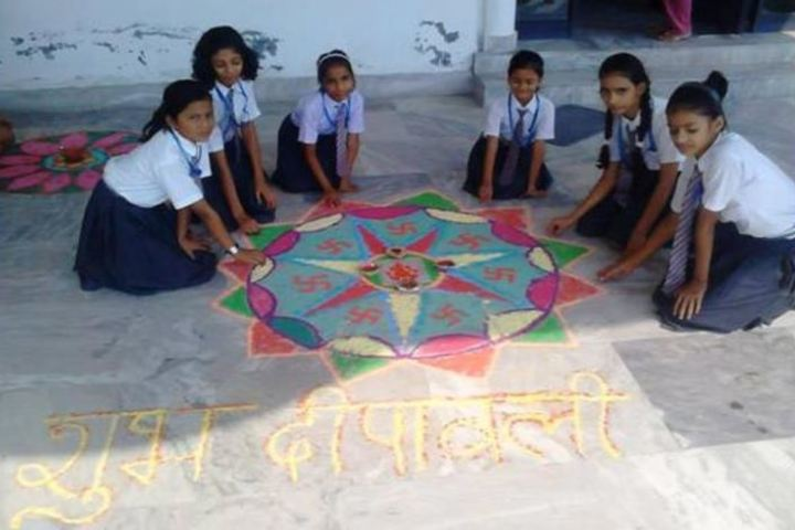 Paras International Public School-Rangoli