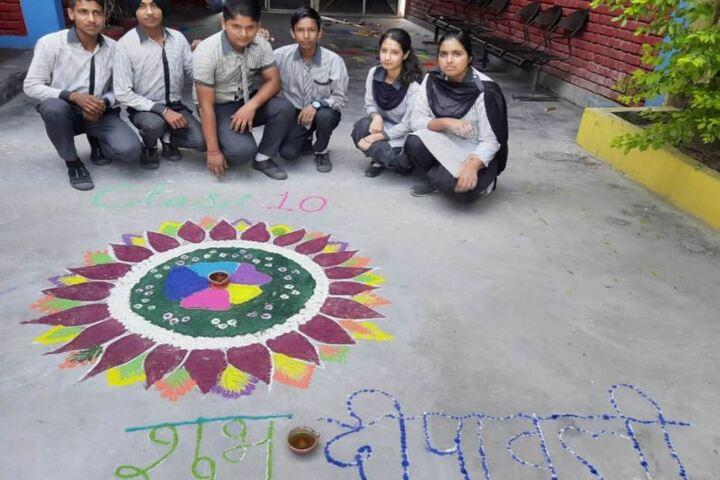 S B N International School-Rangoli Competetion