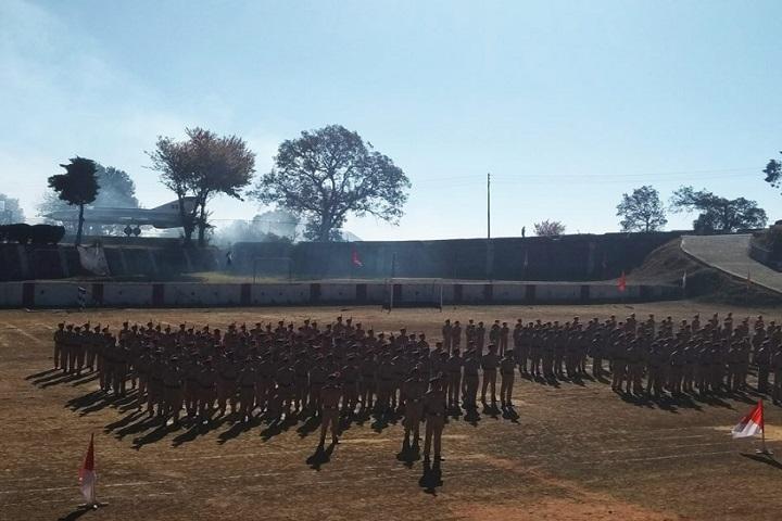 Sainik School-Student parade
