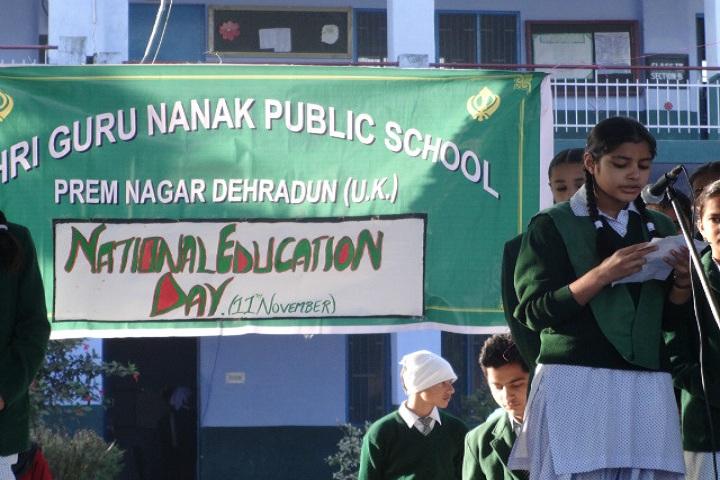 Shri Guru Nanak Public School-National Education Day