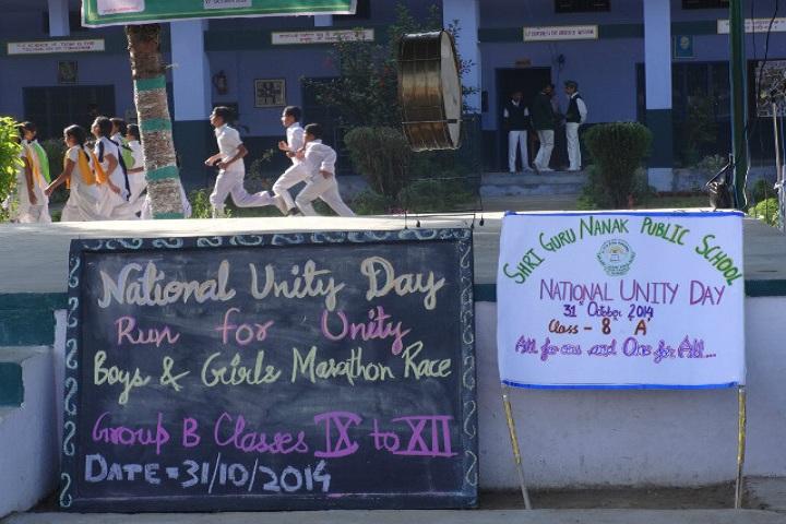 Shri Guru Nanak Public School-National Unity Day