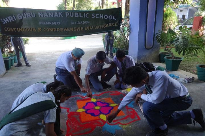 Shri Guru Nanak Public School-Rangoli Event