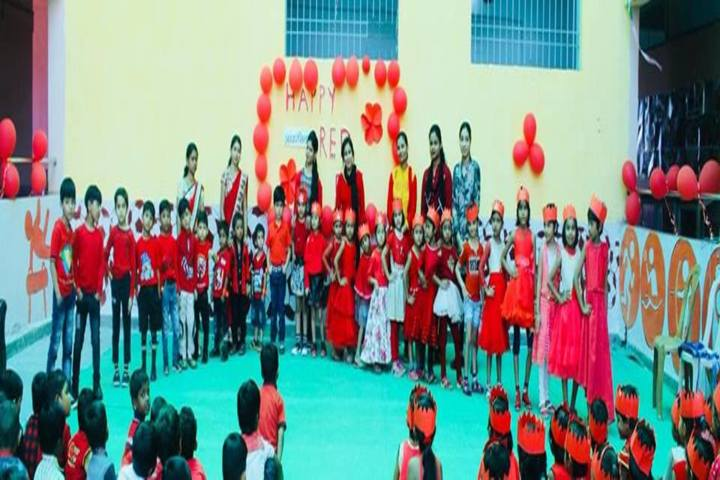Aadharshila School Raipur-Red Day