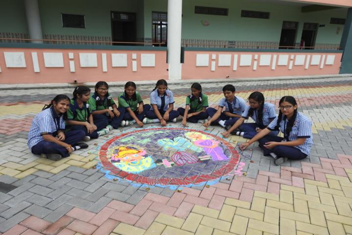 St MaryS Senior Secondary School-Rangoli Competition