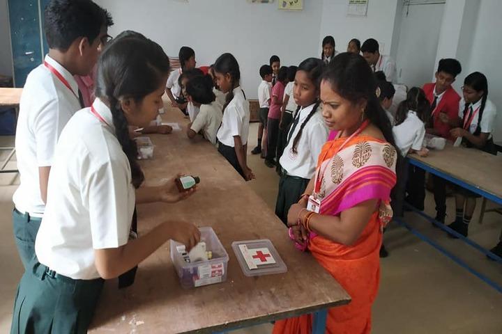 Adeshwar Public School Bastar-First Aid Exhibition