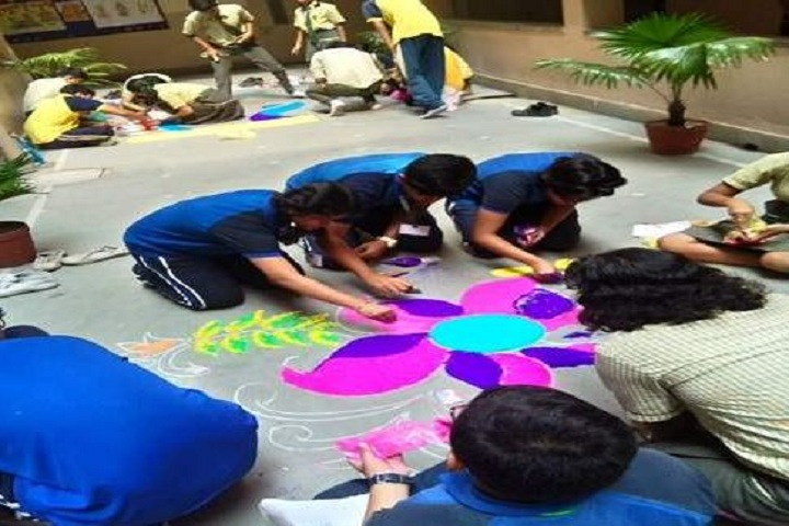 Barasat Indira Gandhi Memorial High School-Rangoli