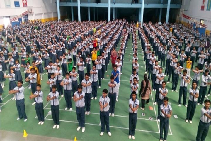 Hem Sheela Model School-International Yoga Day