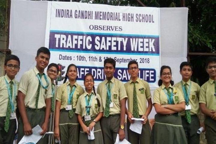 Indira Gandhi Memorial High School-Traffic Awareness