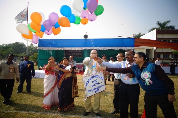 Kendriya Vidylaya-Celebrating Annual Sports Day