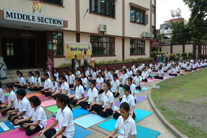 Mahadevi Birla World Academy-Yoga Activity