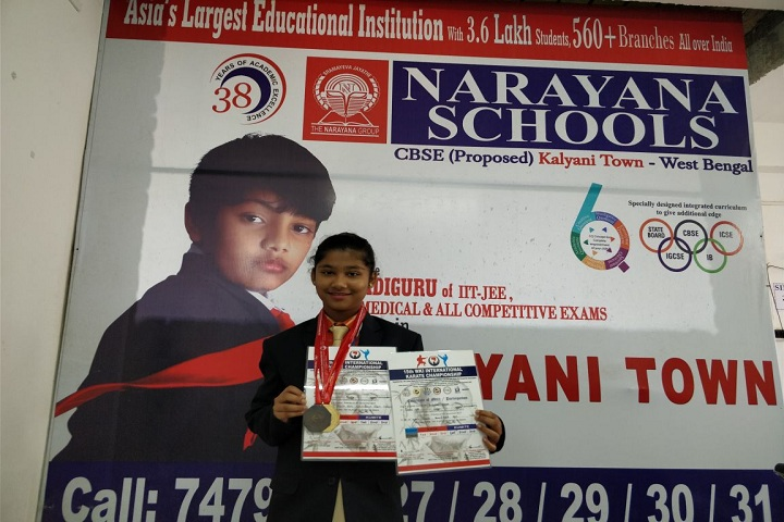Narayana Schools-Karate competition winner