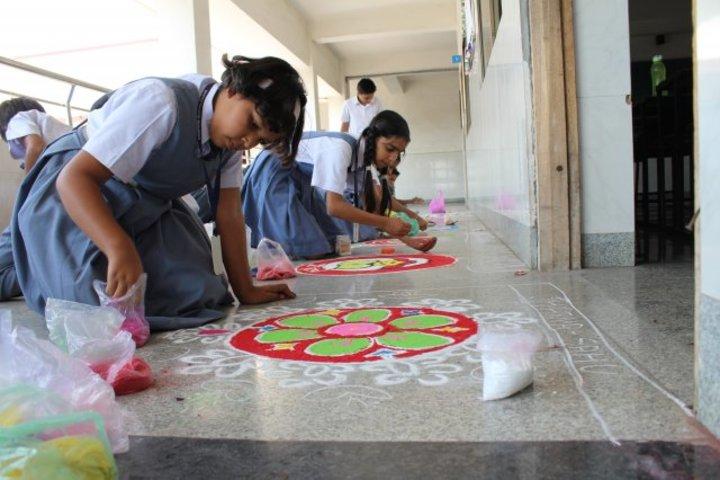 Campion School-Rangoli Competition