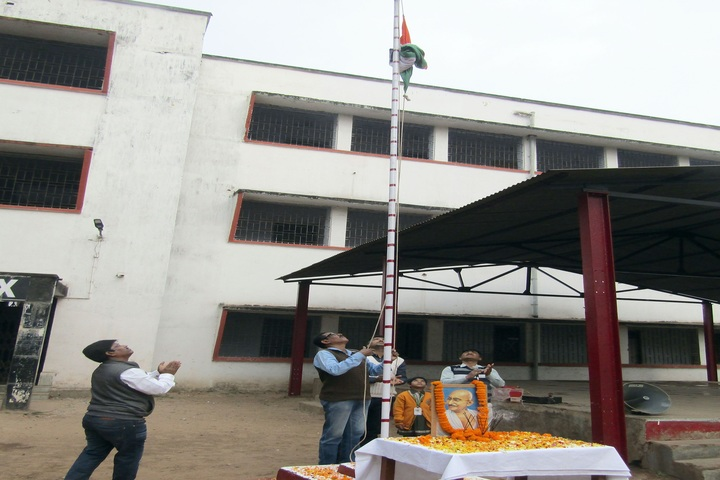 South Eastern Railway Senior Secondary School-Flag Hoisting