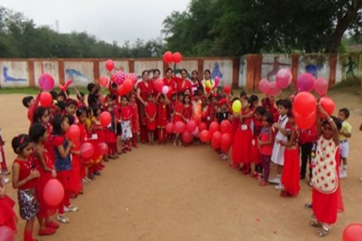D A V Public School Korba-Red Day