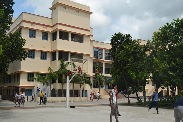 Don Bosco School-Campus-View with playground