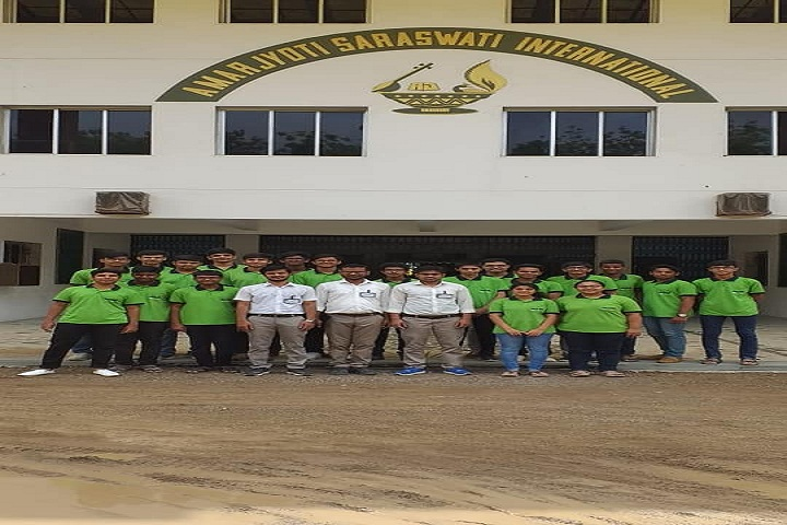 Amarjyoti Saraswati International School-Campus View Front
