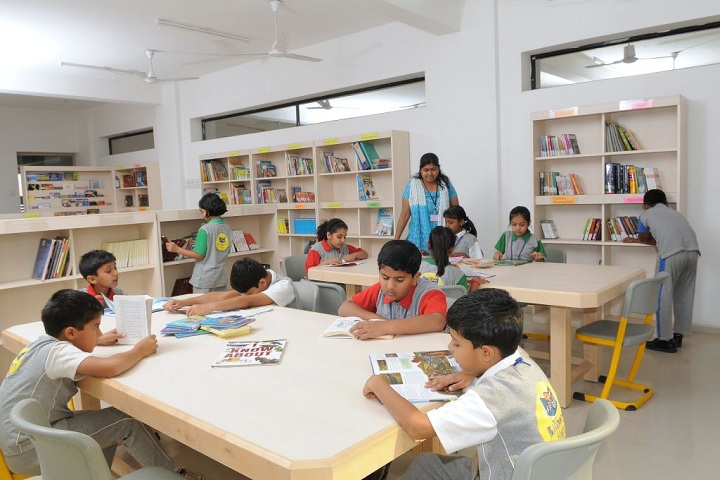 Billabong High International School-Library with reading room