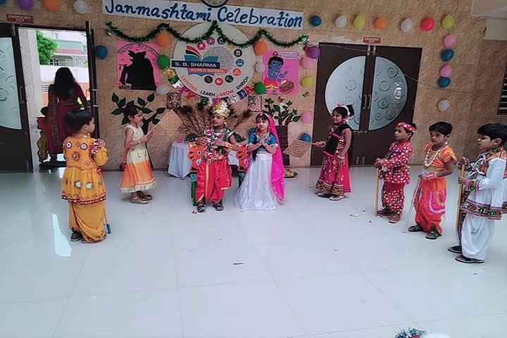 S B Sharma World School-Events janmasthami