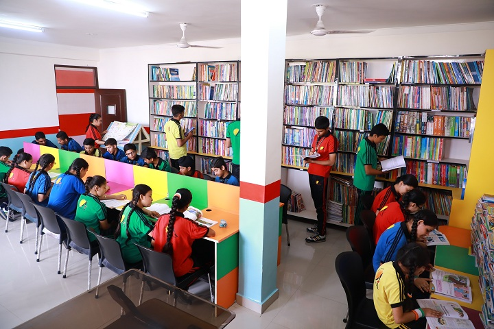 Adarsh Public School-Library with reading room