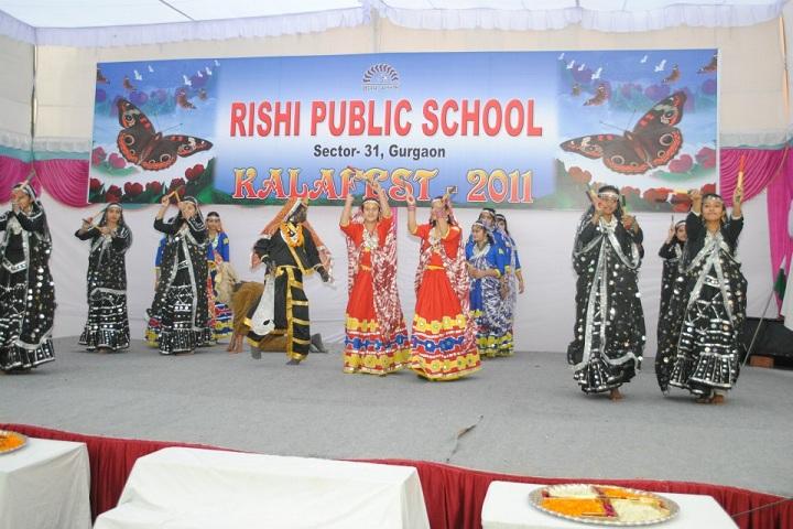 Rishi Public School-Events dance