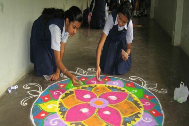 Gulmohur High School-Rangoli Activity