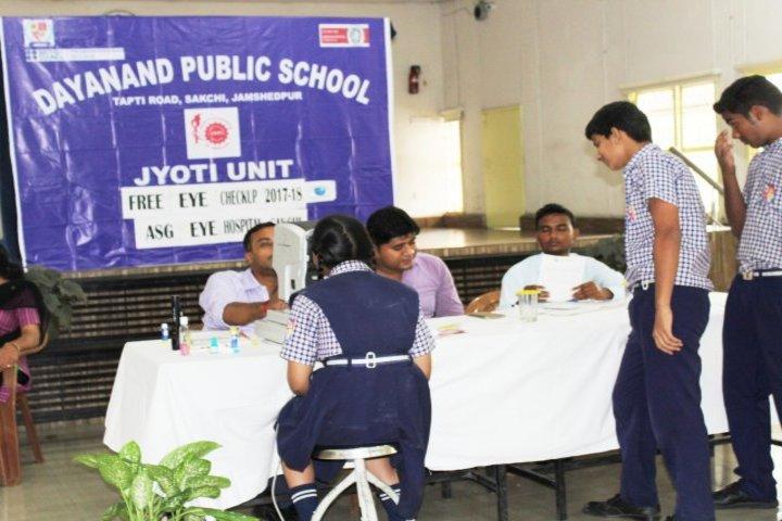 Dayanand Public School-Eye Checkup