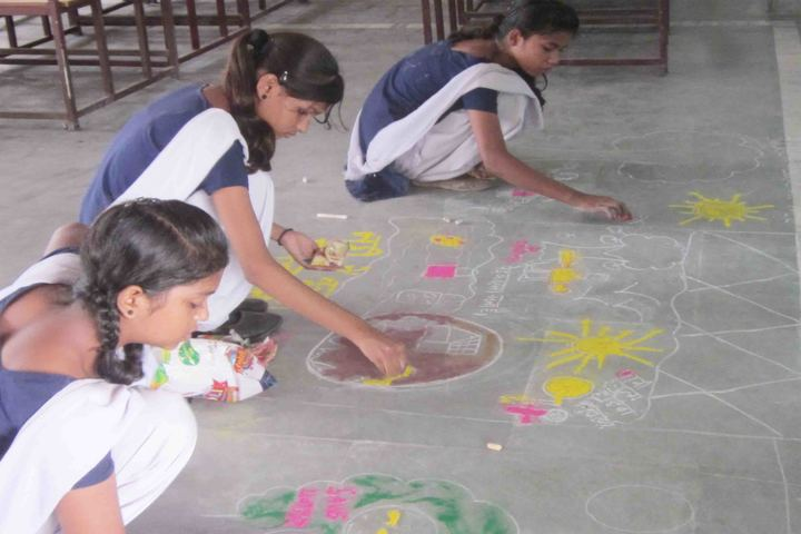 D S M School For Excellence-Rangoli Competition