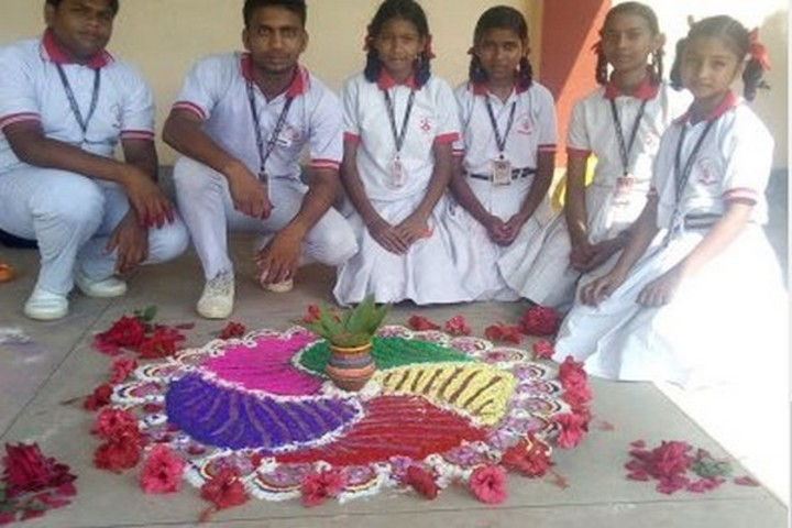 Carmel School-Rangoli Competition