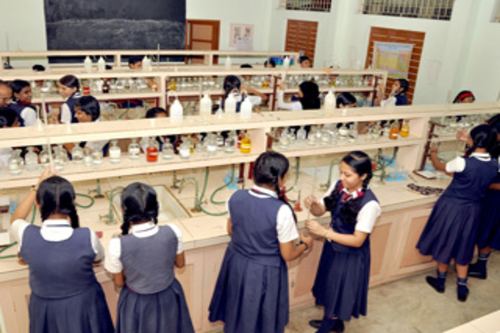 Christ Nagar English Higher Secondary School-Chemistry Lab